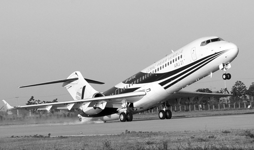 arj21-700飞机最小离地速度试飞