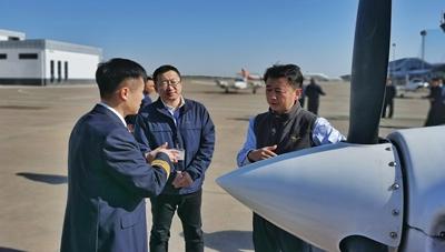 东北局对北大荒和中飞院飞行训练合作项目进行调研和检查1.jpg